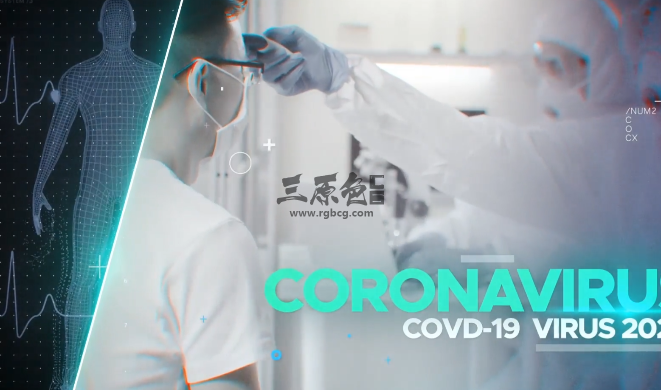 AE模板 - 冠状病毒新冠病毒 人人防疫 知识宣传幻灯片 Coronavirus Ae 模板-第1张