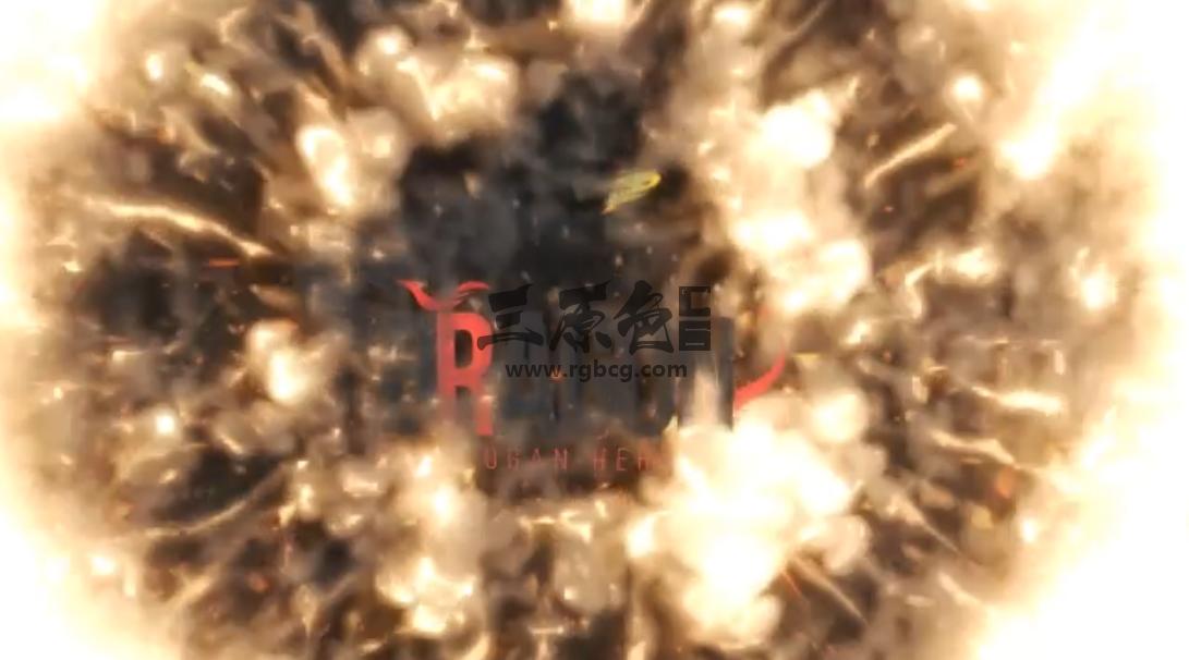 ae模板 - 冲击波logo标志显示开场片头片尾 Shockwave Logo Reveal Ae 模板-第1张