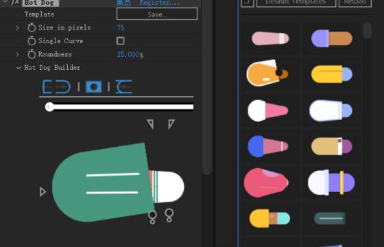 ae插件 MG卡通图形人物动画创建插件  Hot Dog v1.0 Win/Mac 带预设脚本