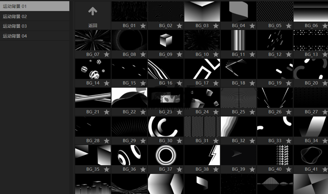 AE/PR 脚本扩展 - 运动图像背景 Backgrounds Pack 中文一键安装 Ae 模板-第3张