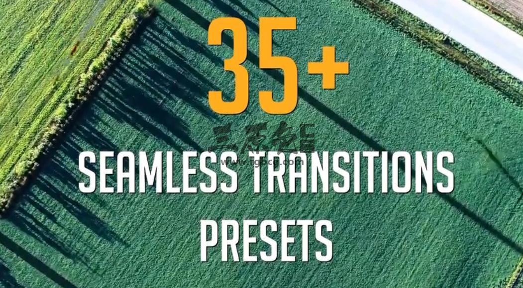 Pr 预设 - 无缝转场过渡切换 35+ Seamless Transitions Presets 脚本/预设-第1张
