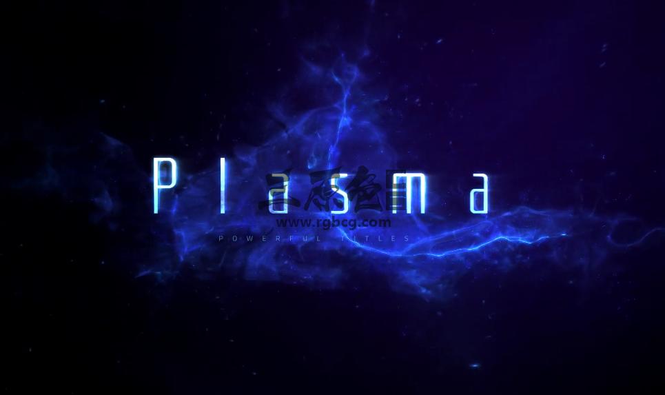 AE模板 梦幻神秘粒子背景文字标题模板 Plasma Trailer Ae 模板-第1张