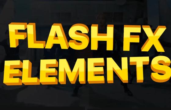 Pr 基本图形 mogrt 卡通动漫特效元素 Flash FX Pack 08