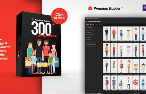 AE脚本扩展 – 动画人物角色元素 PremiumBuilder Characters