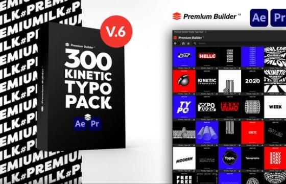 AE/PR扩展脚本模板 无缝动态文字排版动画 Kinetic Typography Win/Mac
