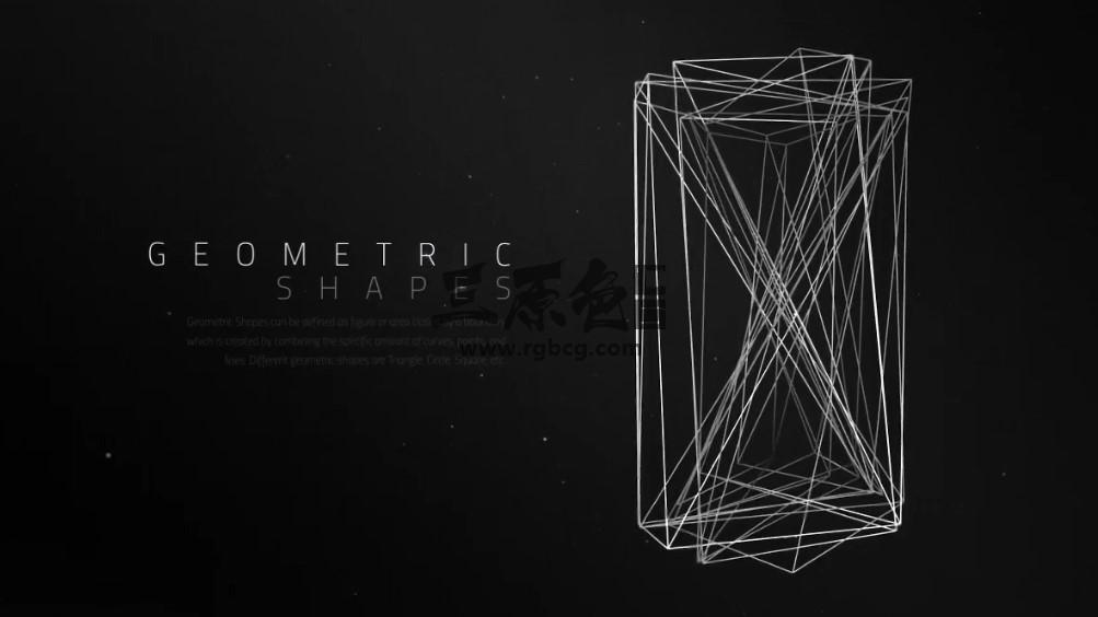 ae模板 - 几何图形文字标题图文说明展示 Abstract Titles Geometric Shapes Ae 模板-第1张
