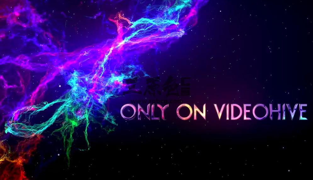 AE模板 - 彩色星云粒子特效文字标题展示 Space Nebula Titles Ae 模板-第1张