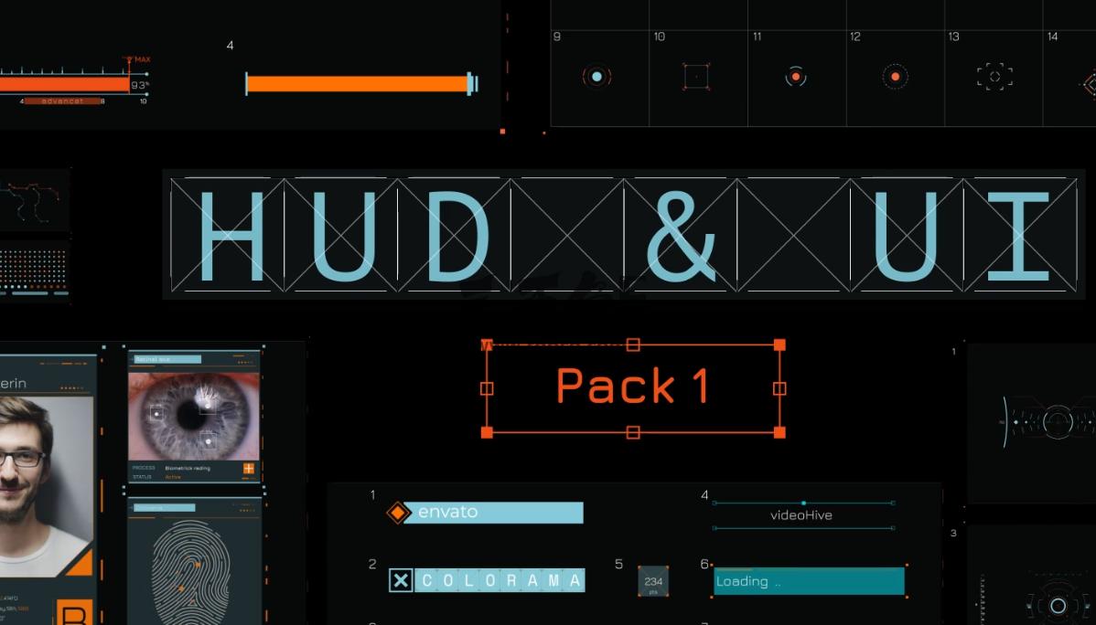 AE模板 高科技智能锁定 跟踪HUD动画素材模板 HUD UI – Videohive Ae 模板-第1张