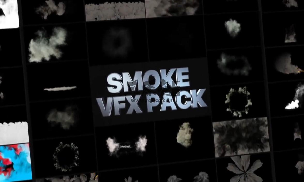 AE模板 - 爆炸烟雾特效素材工具包 Smoke Pack Ae 模板-第1张