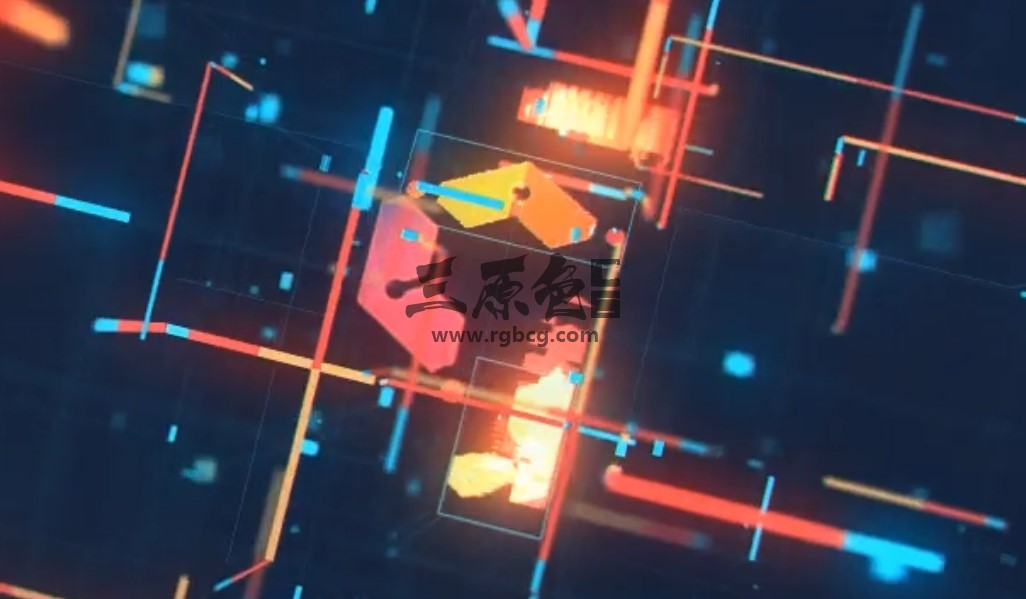 AE模板 - 复古三维视差光线LOGO开场动画片头 Retro Technology Glitch Logo Ae 模板-第1张