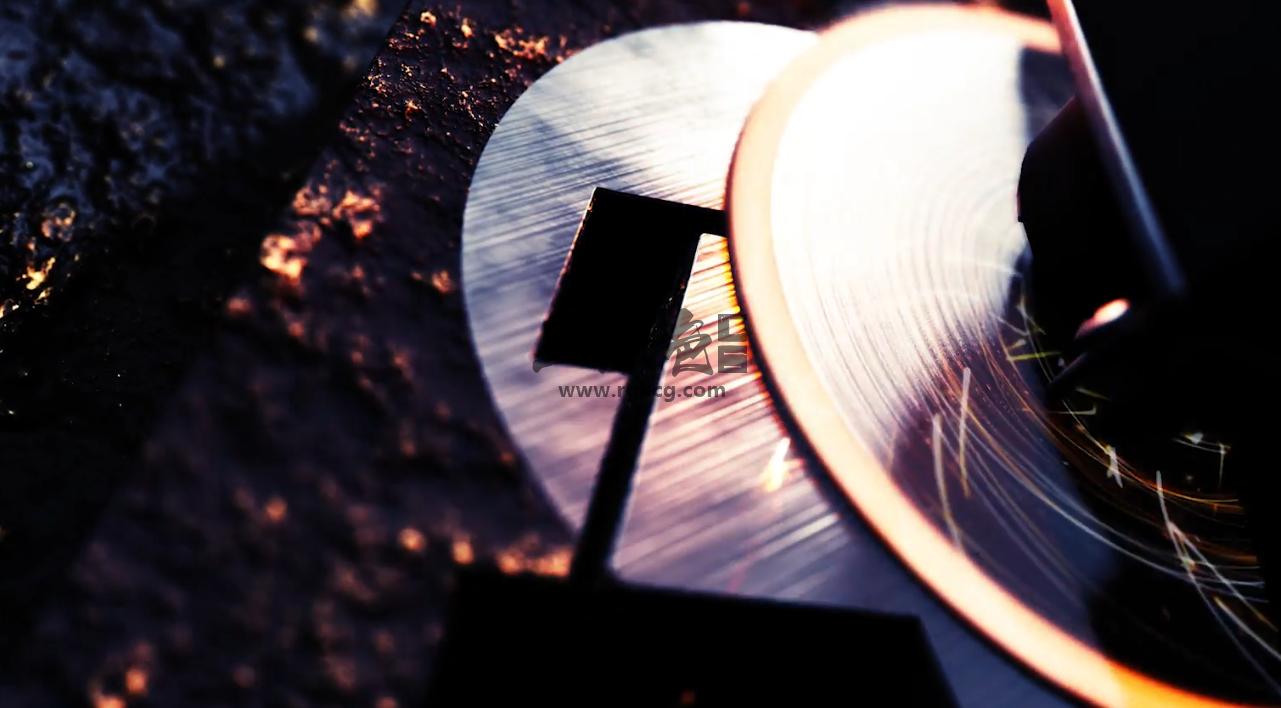 ae模板 - E3D模板 工业齿轮打磨logo显示效果片头片尾 Industrial Logo Ae 模板-第1张