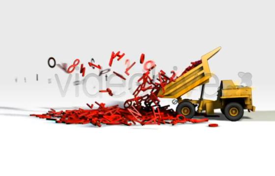 AE模板 – 自卸卡车LOGO标志显示开场片头 Typo Truck Logo Reveal