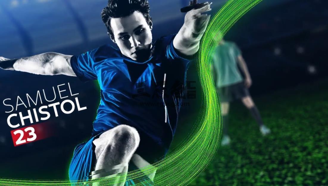 AE模板 足球运动开场队员介绍 Soccer Sport Opener Ae 模板-第1张