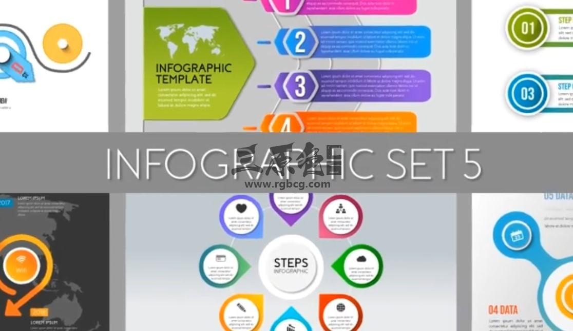 AE模板 信息图形统计表动画 Infographics Set 5 Ae 模板-第1张