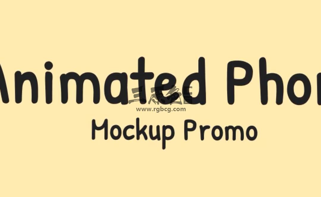 AE模板 - 动画手机模型宣传片 Animated Phone Mockup Promo Ae 模板-第1张