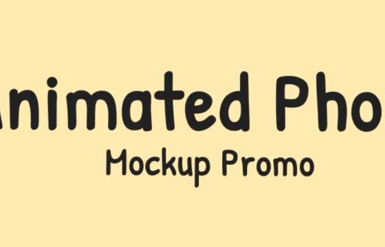 AE模板 – 动画手机模型宣传片 Animated Phone Mockup Promo