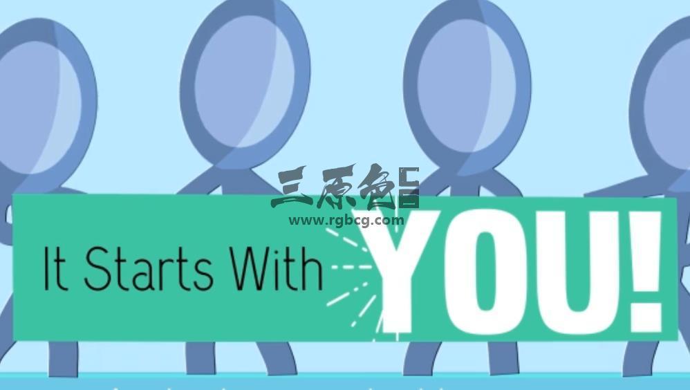 AE模板 公益筹款宣传卡通广告 Volunteer Fundraising Advert Ae 模板-第1张