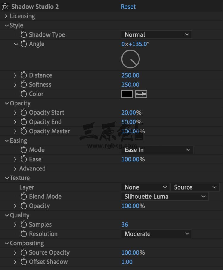 AE插件 - 真实阴影模拟插件 PluginEverything Shadow Studio 2 v1.2 Ae 插件-第1张