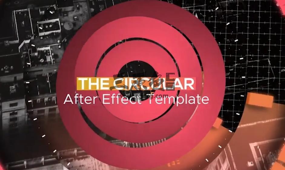 AE模板 彩色圆形图形视差幻灯片相册 Colorful Circular Opener Ae 模板-第1张