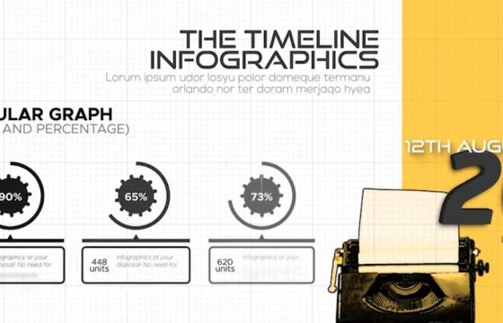 AE模板 – 时间轴式信息图形 The Timeline Style Infographics