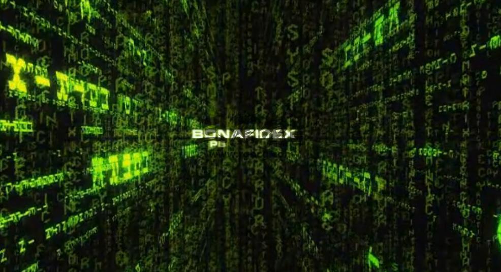 AE模板 纵向深度符号数字动画 Matrixulated Ae 模板-第1张