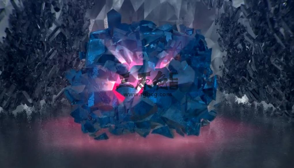 AE模板 黑暗水晶破碎 武侠人物出关 Crystal Palace Of The Darkness Ae 模板-第1张