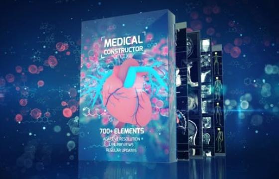 AE扩展模板 医学人体器官骨骼心脏动态HUD动画 AtomX v3.0.5