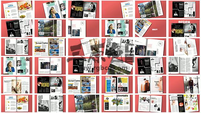 AE模板 700多个预制书本杂志 翻页动画 Premade Magazine Animations Ae 模板-第1张