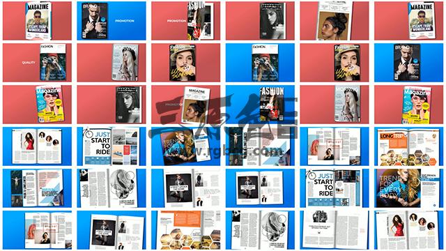 AE模板 700多个预制书本杂志 翻页动画 Premade Magazine Animations Ae 模板-第3张