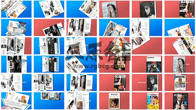 AE模板 700多个预制书本杂志 翻页动画 Premade Magazine Animations Ae 模板-第4张