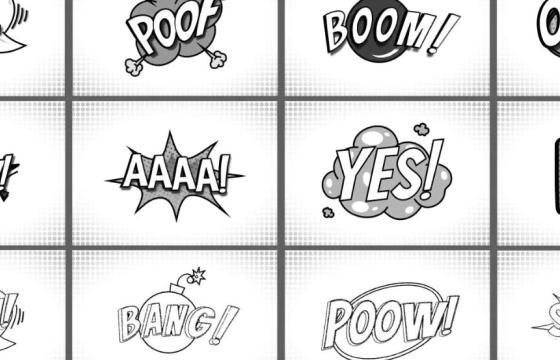 AE模板 – 综艺效果 黑白漫画文字标题动画 Comic Titles Black And White