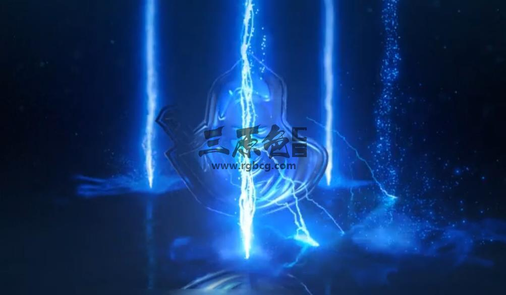 AE模板 修仙渡劫闪电风暴LOGO标志 Lightning Storm Electric Logo Ae 模板-第1张