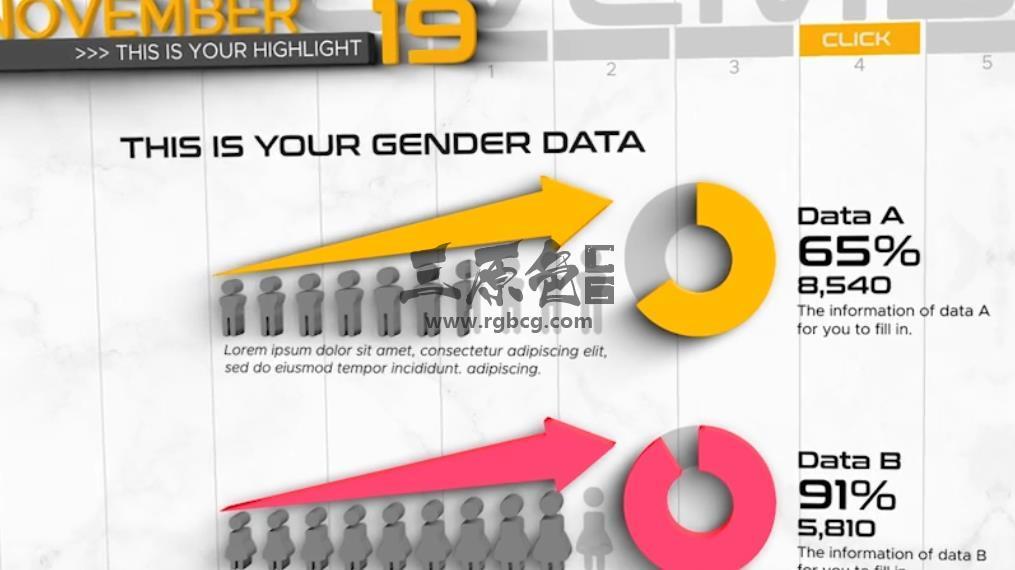 AE模板 - 三维时间轴信息图形图表动画 3D Timeline Infographics Ae 模板-第1张