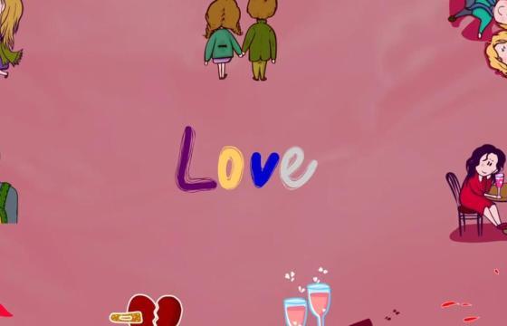 AE模板 浪漫抒情手绘卡通动画人物 Love Lyric Animations