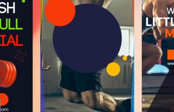 AE模板 – 移动端竖屏版本健身瑜伽图文幻灯片模板 Yoga Center Instagram Stories