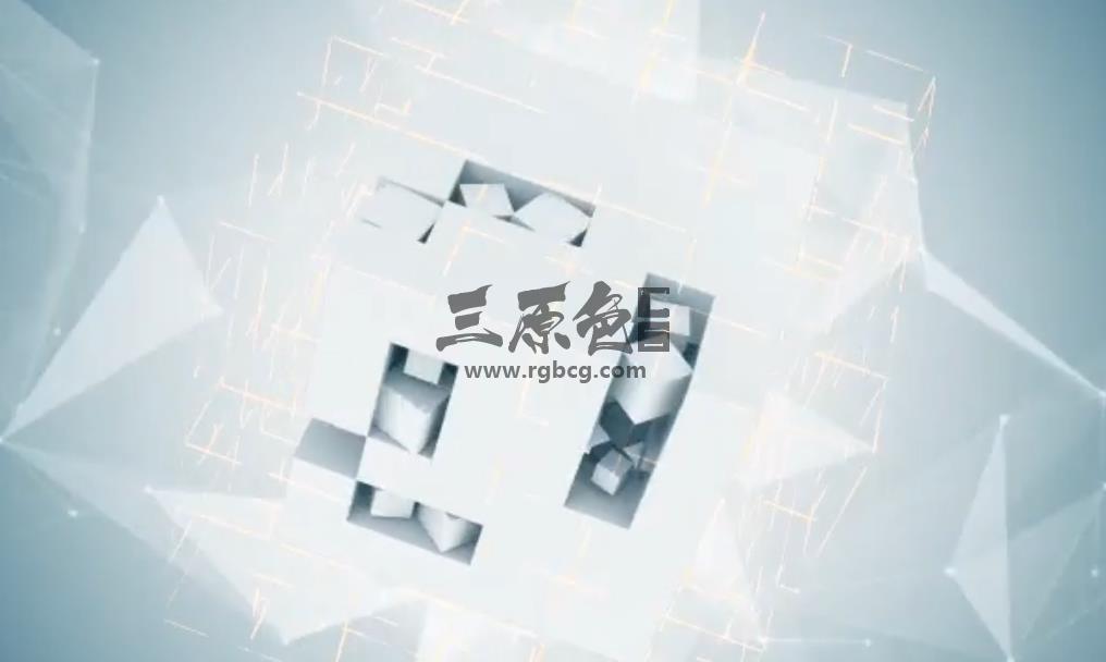 Pr模板 - 抽象立方体LOGO标志片头片尾 Abstract Cube Logo Pr 模板-第1张