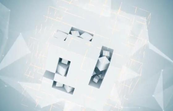 Pr模板 – 抽象立方体LOGO标志片头片尾 Abstract Cube Logo
