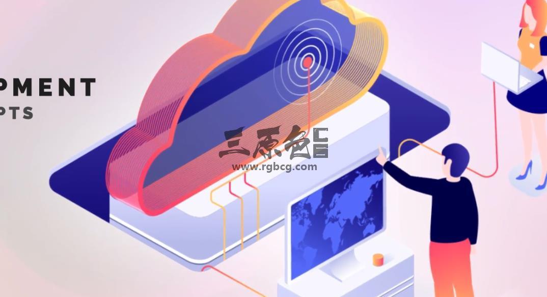 AE模板 互联网网络开发维护图形动画 WEB Development Ae 模板-第1张