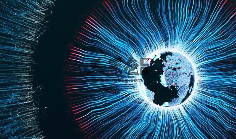 ae模板 深邃地球眼睛LOGO标志开场片头 Abstract Earth Logo Ae 模板-第1张