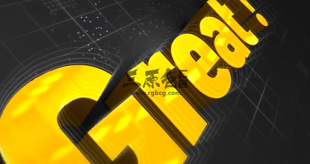 AE/Pr 模板 - 方块线条LOGO旋转展示 TURA Intro Pro Ae 模板-第1张