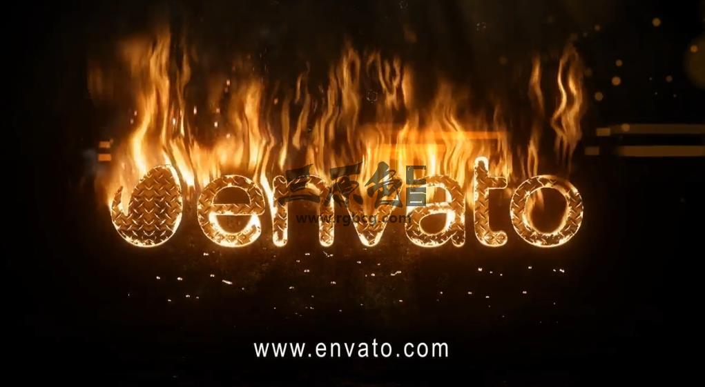 AE模板 逼真火焰燃烧文字特效 Realistic Fire Logo 2 Universal Burning Font Ae 模板-第1张
