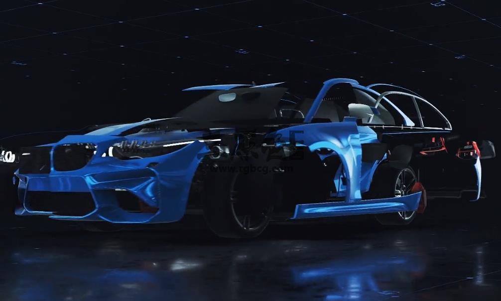 AE模板 车展汽车变形LOGO片头片尾 Car Reveal Ae 模板-第1张