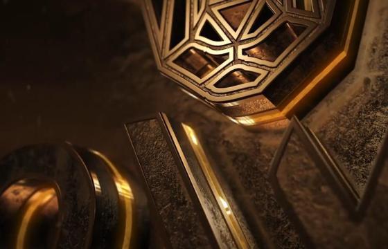 AE模板 – E3D模板 金色质感三维LOGO标志动画片头 Neon Grunge Logo