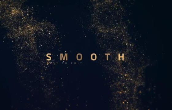 AE模板 不规则形状粒子聚散 文字标题 Smooth Golden Titles