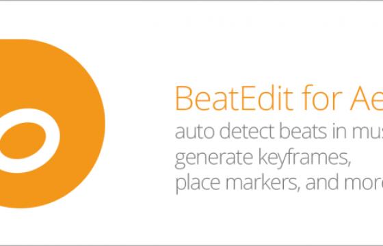 AE/Pr脚本扩展-自动音乐鼓点节拍插件 Aescripts BeatEdit for AE/Pr v2.1