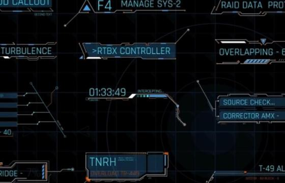 AE模板 各种武器瞄准 科技界面 指示线 HUD动画 Extreme HUD Pack