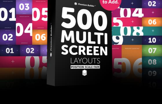 AE脚本扩展 – 多屏幕画面生成器 PremiumBuilder Multi Screen Win/Mac