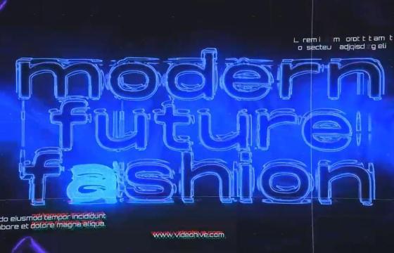 AE模板 – 霓虹未来时尚 Neon Future Fashion